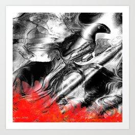 Abstract Fire Bird Art Print