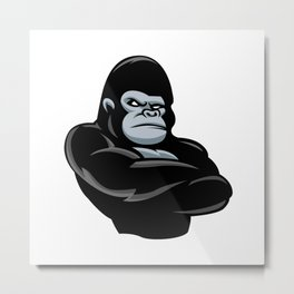 angry  gorilla.black gorilla Metal Print