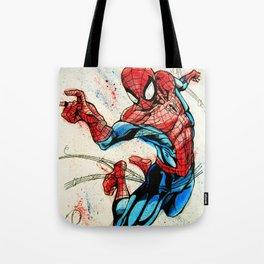 Web-Slinger Spider-Man Tote Bag