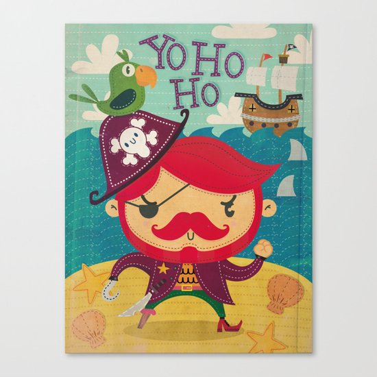 The pirate Yo ho ho Canvas Print