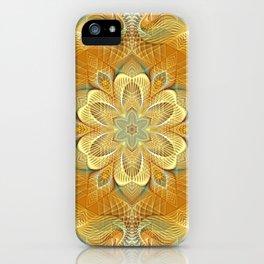 Flower Of Life Mandala (Golden Touch) iPhone Case