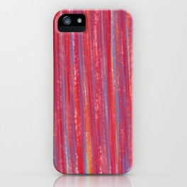 Stripes  - Candy pink red orange and blue iPhone Case