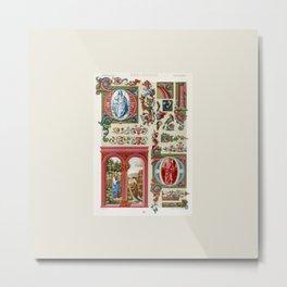 Finest Renaissance art pattern Metal Print