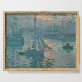 Claude Monet - Marine Sunrise, 1873 Serving Tray