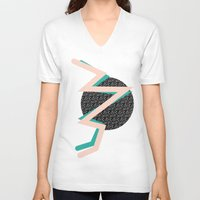memphis V-neck T-shirts featuring memphis by jmdphoto