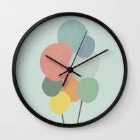 ballon Wall Clocks featuring Ballon by Djuliansjah