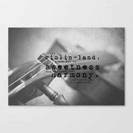 Sherlock Holmes Violin Canvas Print