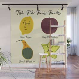 The Fab Four Foods Wall Mural