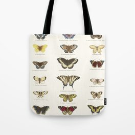 Vintage Butterfly Chart Tote Bag