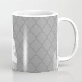 Grey and White Buddha Coffee Mug