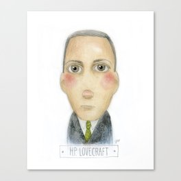 H.P. Lovecraft Portrait Canvas Print