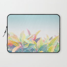 After the rain / Tropical Croton Leaves 4 Laptop Sleeve
