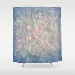 Sparkling Crystal Maze Abstract Shower Curtain