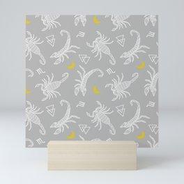 Scorpio Moon on Grey Mini Art Print