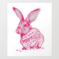 poop Art Prints featuring Poop Rabbit by Nat Osorio
