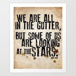 Oscar Wilde: Looking At The Stars Art Print