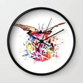 Butterfly Splash Wall Clock