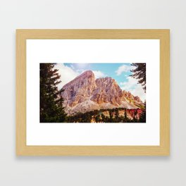 Rocky mountain Surrounded with trees Framed Art Print