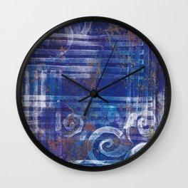 Abstract Monoprint 170315484 Wall Clock