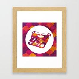 Typwriter Tiles Framed Art Print
