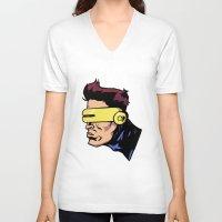 xmen V-neck T-shirts featuring x3 by jason st paul