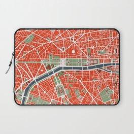 Paris city map classic Laptop Sleeve