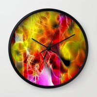holiday Wall Clocks featuring Holiday by BeachStudio
