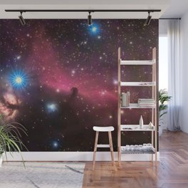 Horsehead and flaming tree nebula, in the constellation of Orion, Milky Way Wall Mural