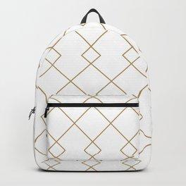 Elegant Gold Grids  Backpack