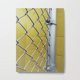 Silver Fence Metal Print