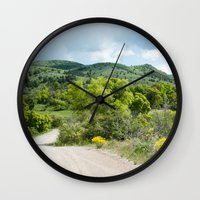 running Wall Clocks featuring Running  by Julie Luke
