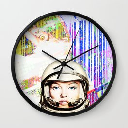 astronaut norma jeane Wall Clock
