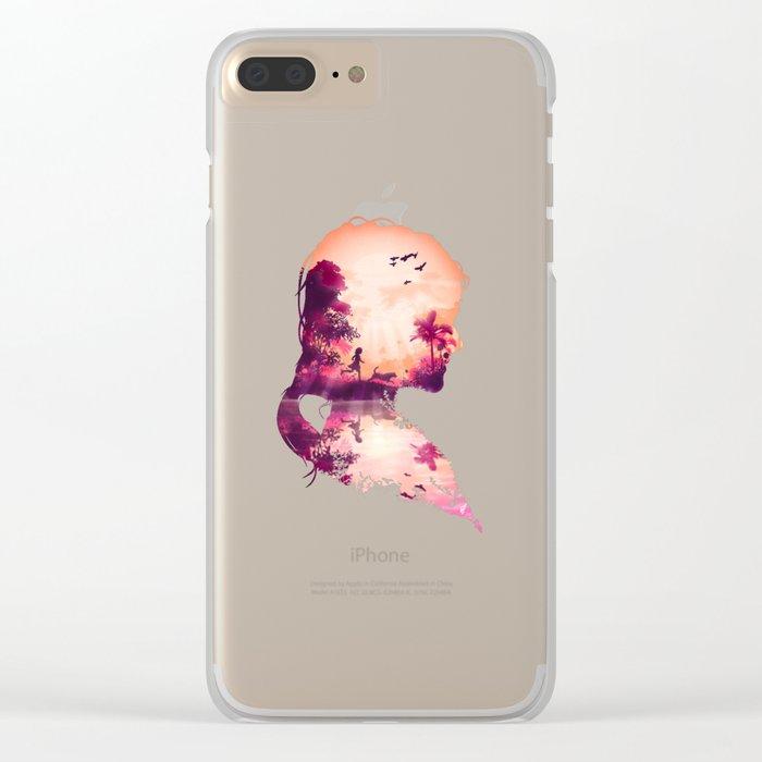 Best Friends Girl version Clear iPhone Case