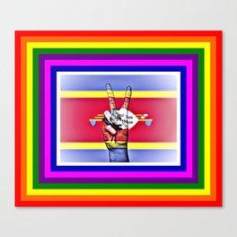 Swaziland World Peace Flag Canvas Print