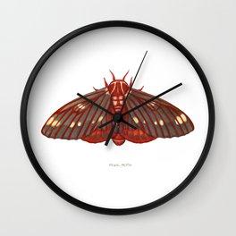 Regal Moth Wall Clock