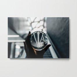 Glass ball Metal Print