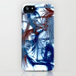 Blue Ribbons iPhone Case