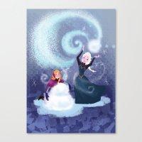 snowman Canvas Prints featuring Snowman by samanthadoodles