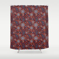 paisley Shower Curtains featuring Paisley by Lisi Fkz