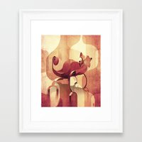 chameleon Framed Art Prints featuring Chameleon  by Helder Oliveira