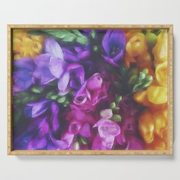 Freesias Serving Tray