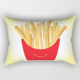 French Fries City Rectangular Pillow