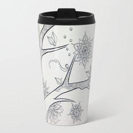 mandala tree 3 Travel Mug