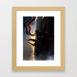 Dans l'ombre de Notre Dame Framed Art Print