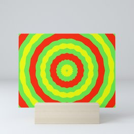 Cheerful circle pattern Mini Art Print