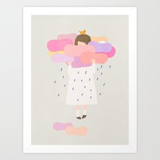 The sweet clouds Art Print