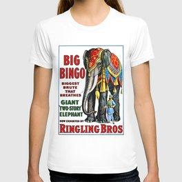 Big Bingo - Vintage 1916 Circus Poster T-shirt