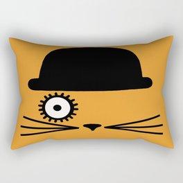 Catwork Orange Rectangular Pillow