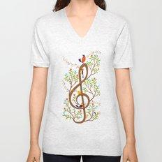 Song birds Unisex V-Neck