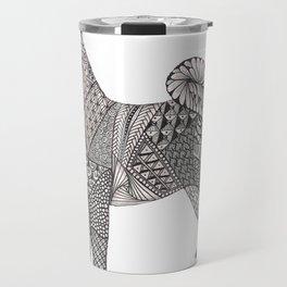 Tangled Akita Dog Travel Mug